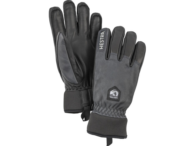 Hestra Army Leather Wool Terry Guantes, grey/black
